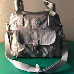 Kipling Light Gray Nylon Larger Handbag